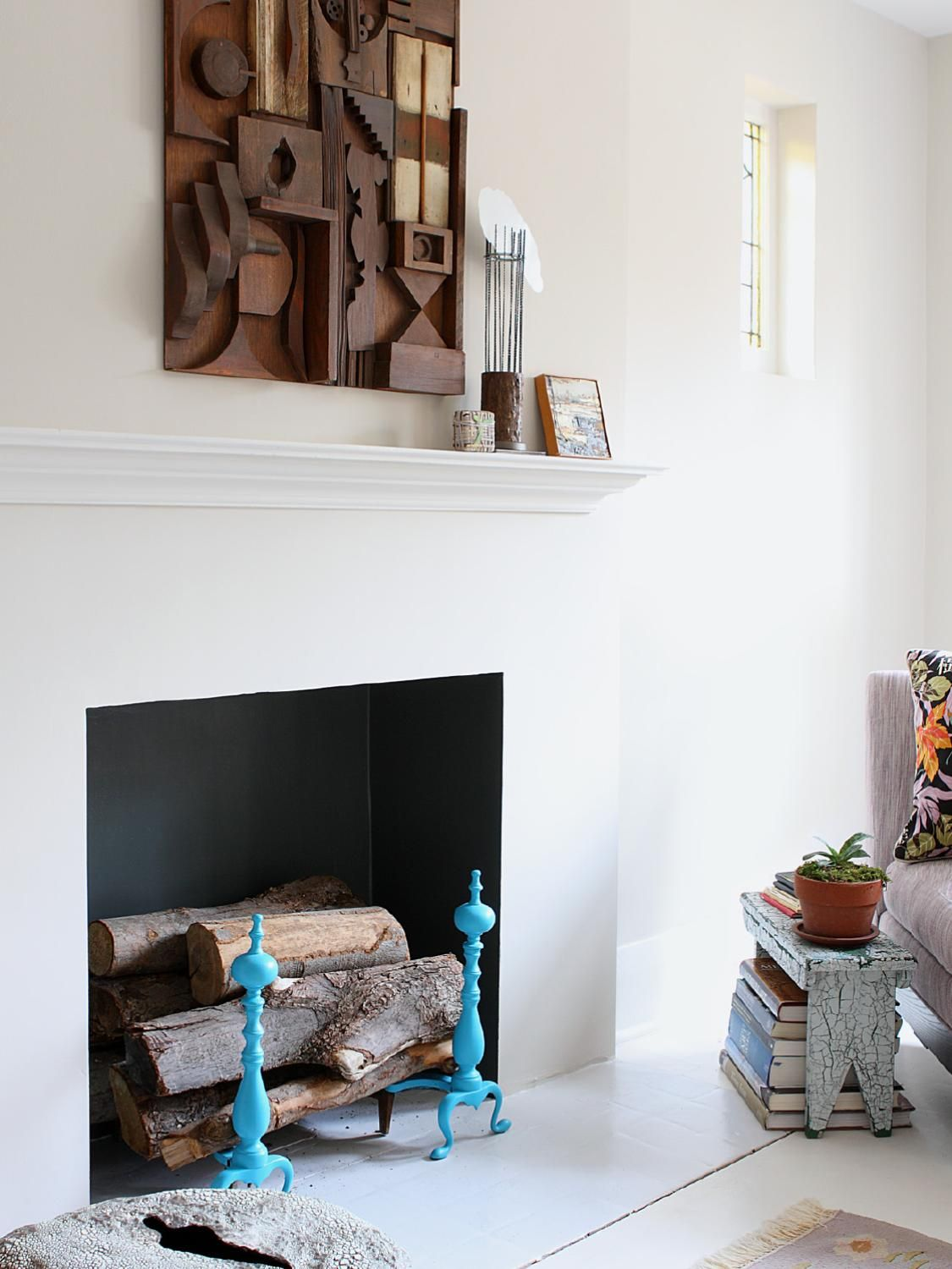 Artist Holly's place is full of light, textiles and lots of inspiration.