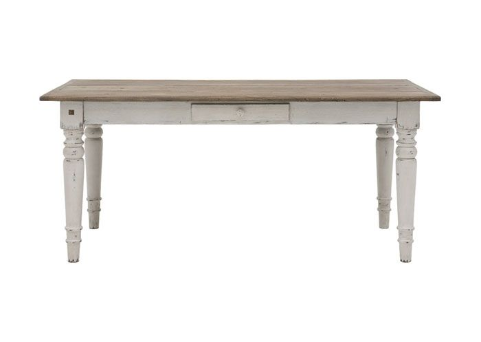 Matbord i trä. 90 x 180 cm. (med bilder