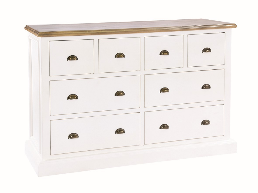 Lulworth Wide 4 Over 4 Drawer Chest White Chest Of Drawers Reclaimed Wood Sideboard Large Chest Of Drawers