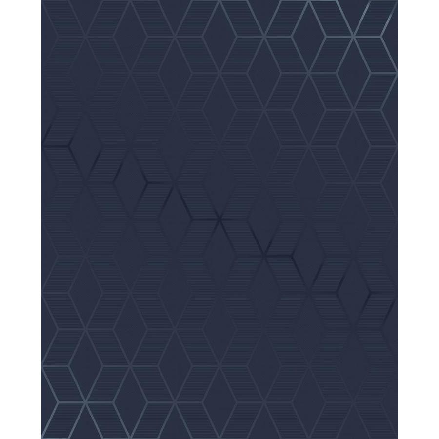 Graham Brown Kabuki 56 Sq Ft Blue Vinyl Textured Geometric Unpasted Wallpaper Lowes Com Blue Accent Walls Vinyl Wallpaper Removable Wallpaper
