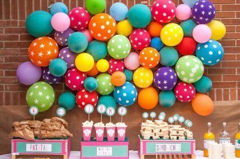 Decoración con globos para cumpleaños y fiestas infantiles Ideas