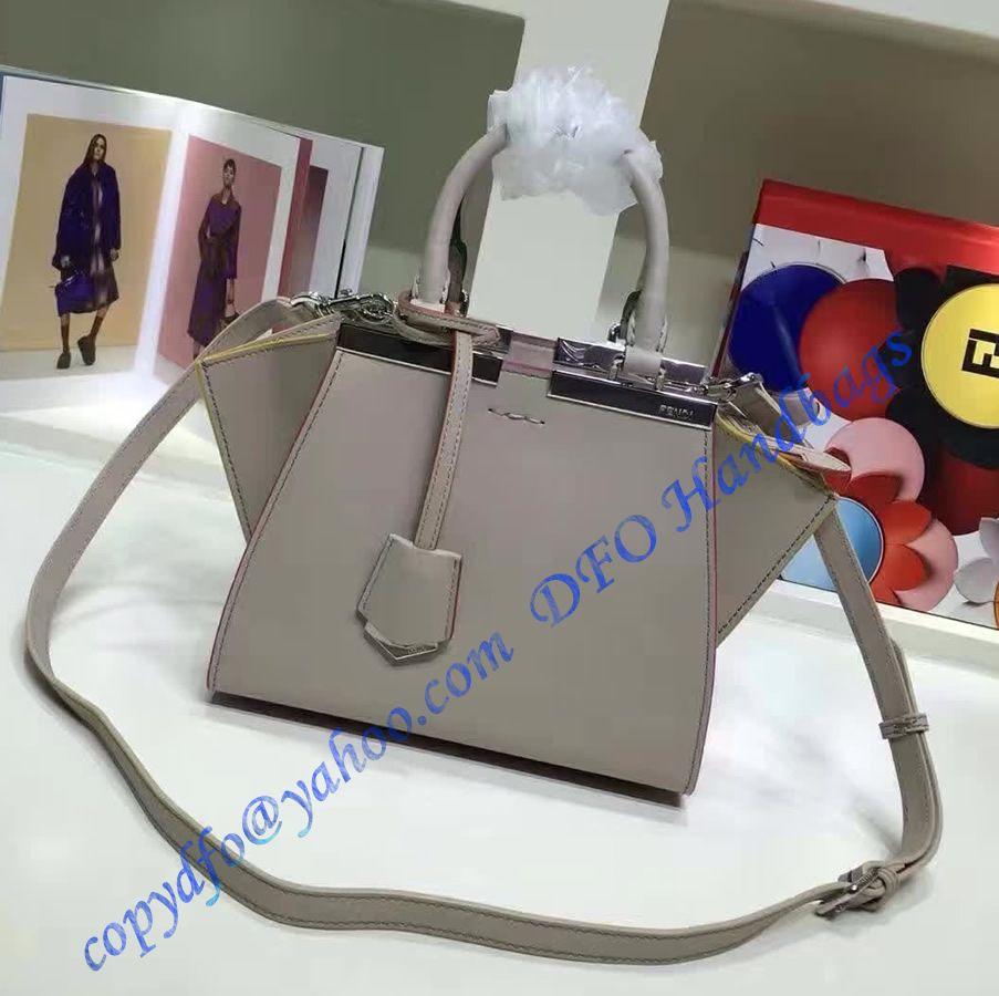 47e9c33ffc Fendi Mini 3Jours in Light Gray Leather Handbag in 2018