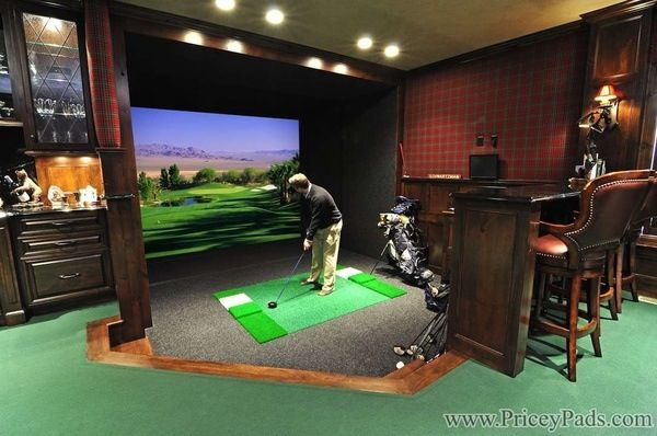 Man Cave Golf Simulator : Golf simulator man cave for the home