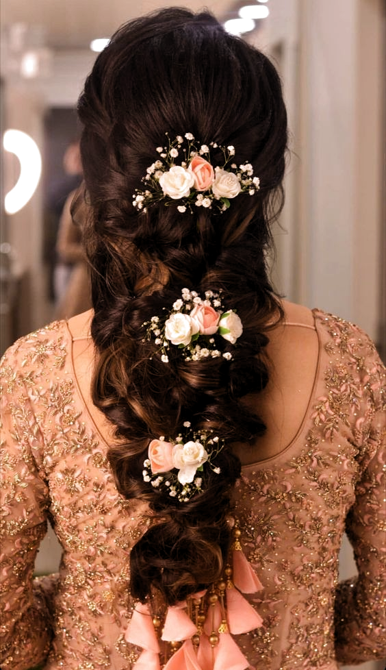 Reception hairstyles for Indian brides | hair
