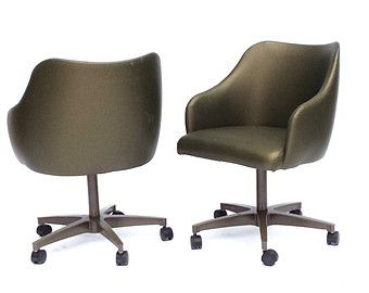 knoll eames chair. Mid Century Rolling Pod Chair Dinette Chairs Barrel Knoll Eames Style Set Of Four