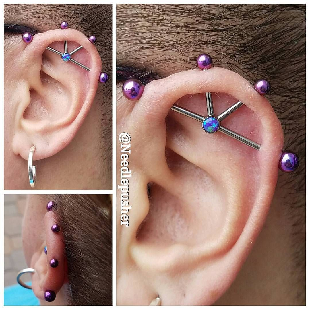 About 15 Months Into Healing For This 4 Point Industrial Piercing