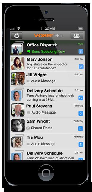"""Voxer is described as a """"walkietalkie"""" app Messaging"""
