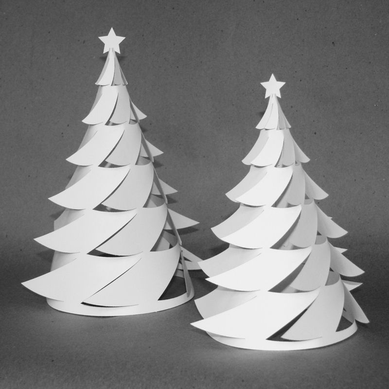 Newspaper Christmas Tree: 3D Paper Christmas Tree/Luminaria — Crafthubs