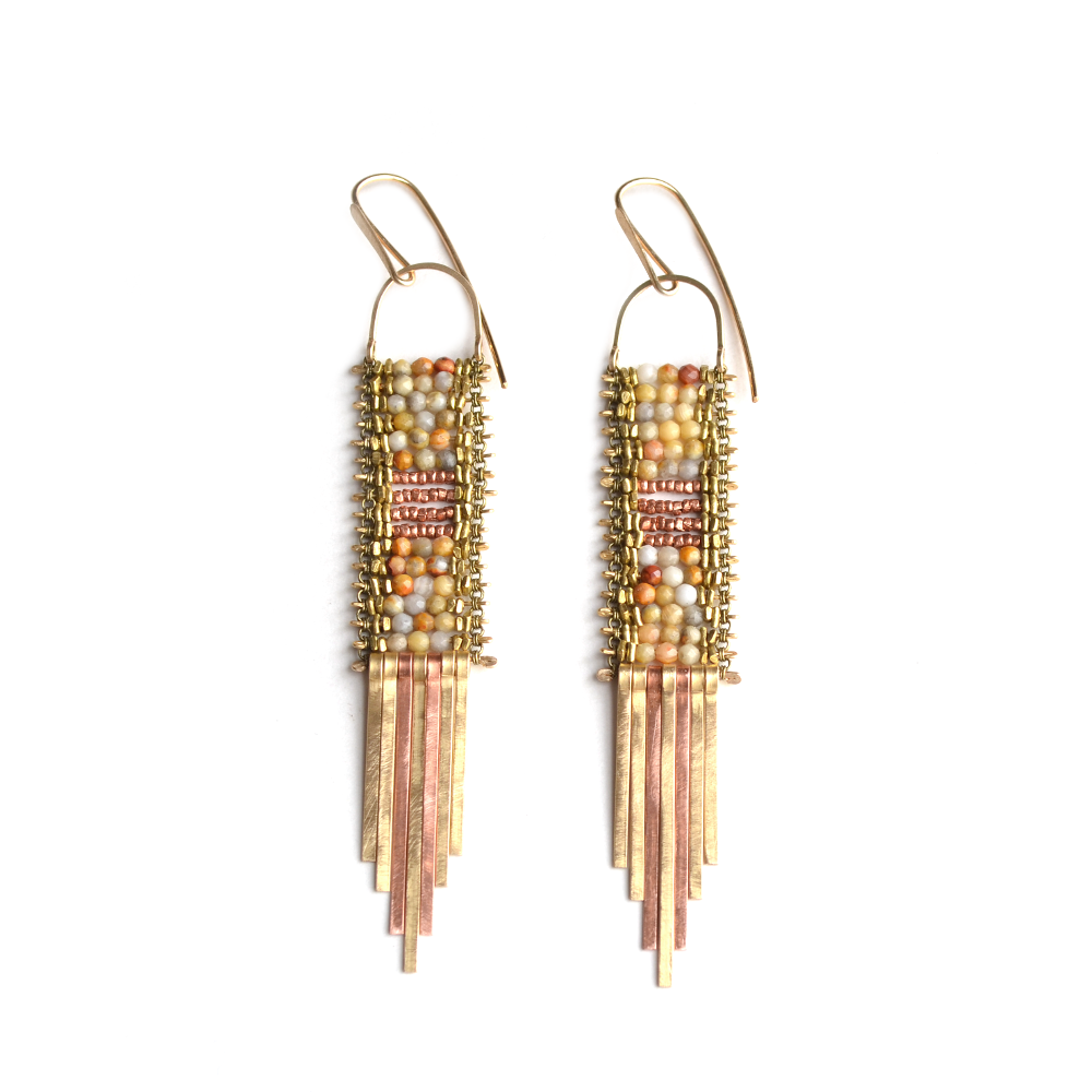 Tapestry of Sun and Fire earrings
