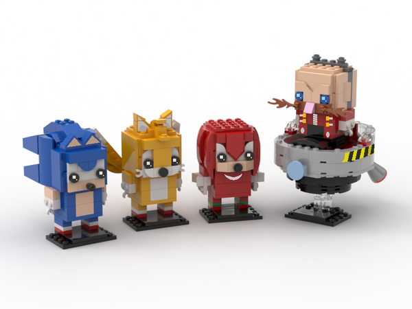 Sonic The Hedgehog Series Brickheadz Sonic Tails Knuckles And Dr Eggman In 2020 Sonic The Hedgehog Sonic Hedgehog