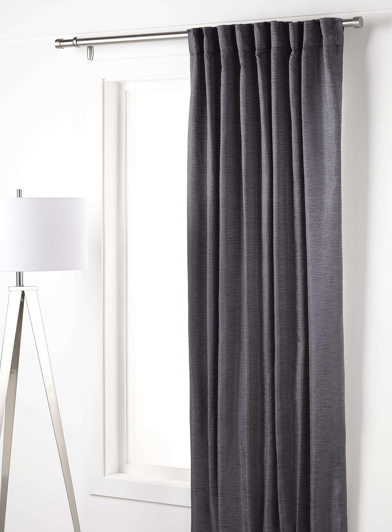 Modern brocade satin curtain 56¨ x 86¨ - Curtains | Simons | Men home  decor, Satin curtains, Curtains