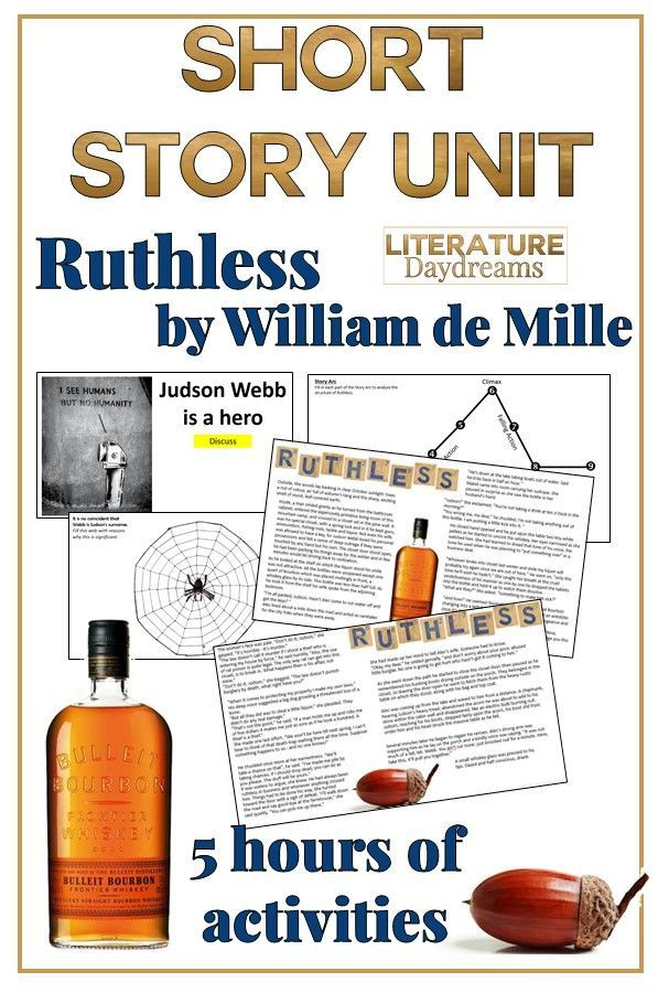 Short Story Unit Ruthless by Wiliam De Mille | Poetry and Short