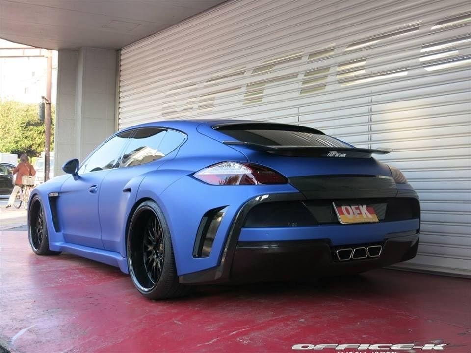 Panamera Matte Blue Porsche Panamera Porsche Porsche Panamera Turbo