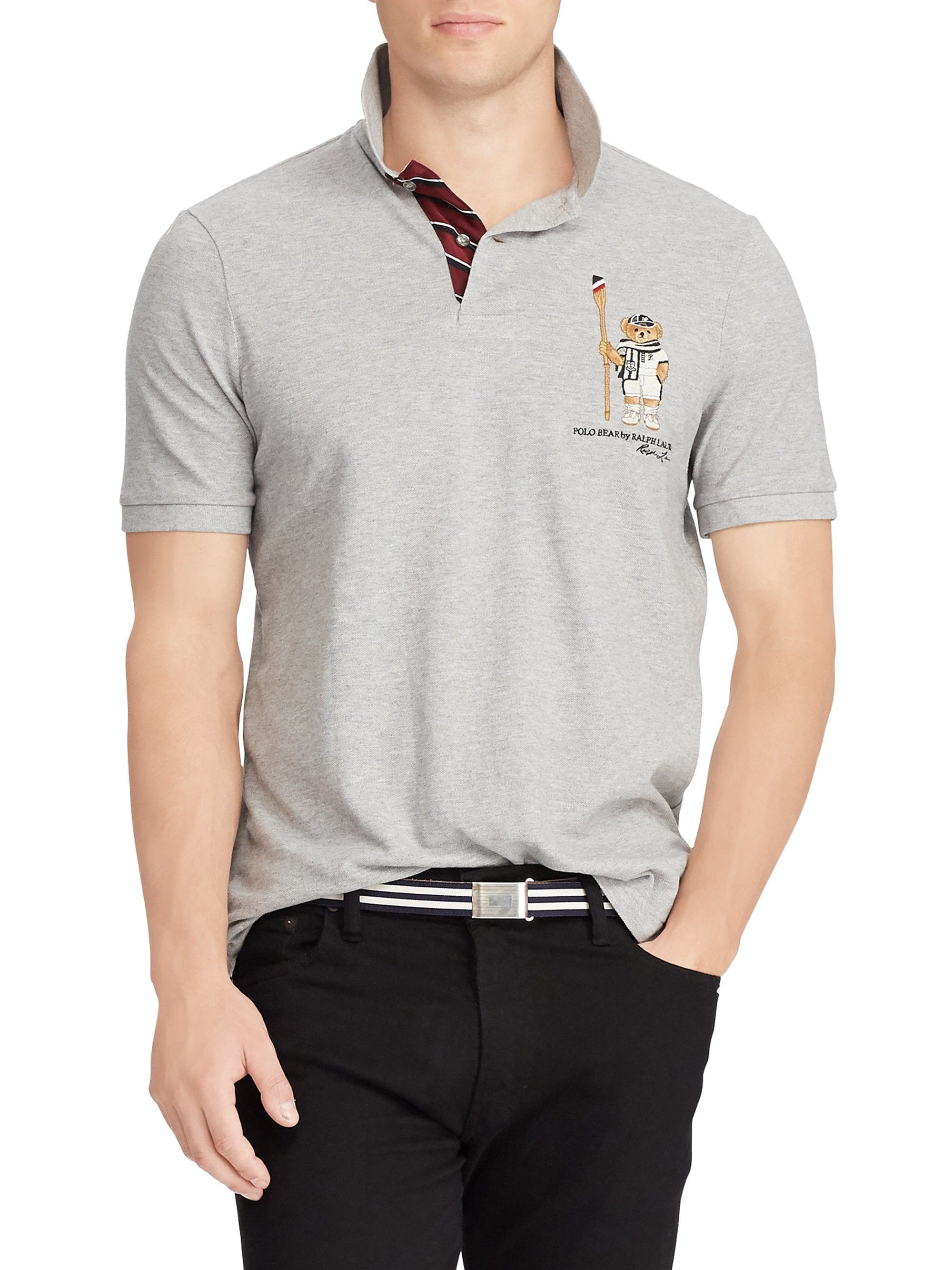 d512007c Ralph Lauren Classic Fit Bear Polo Shirt - Grey X-Large | Products ...