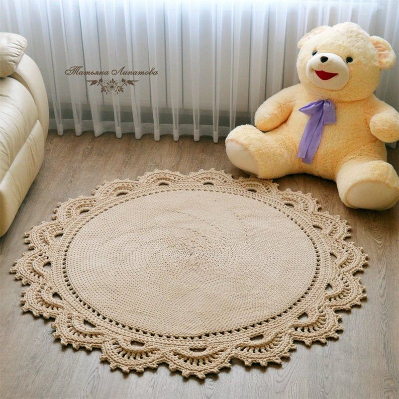 Gestrickte Runde Beige Teppich Mandala Teppich Runde Teppich Badezimmer Teppich Matte Fur Kinderzimmer Wohnzimmer Teppich Schlafzimmer Teppich In 2020 Teppich Hakeln Teppich Beige Mandala Teppich