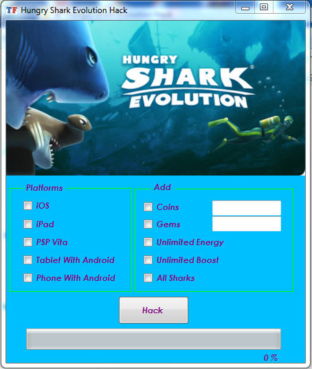 Hungry Shark Evolution Hack and Cheats Online Generator for