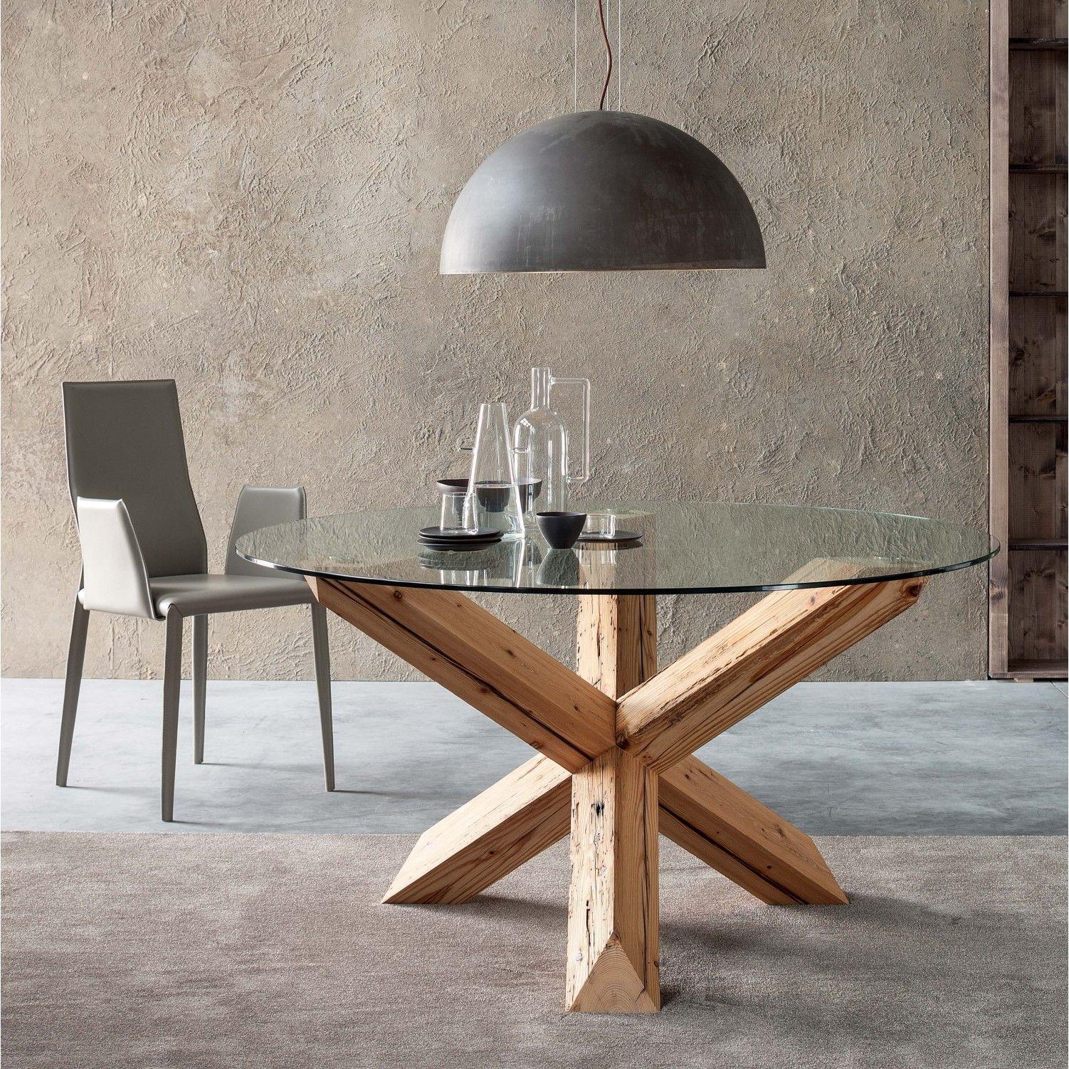 Mesa Asterisk Con Base De Madera Recuperada Arredaclick Table