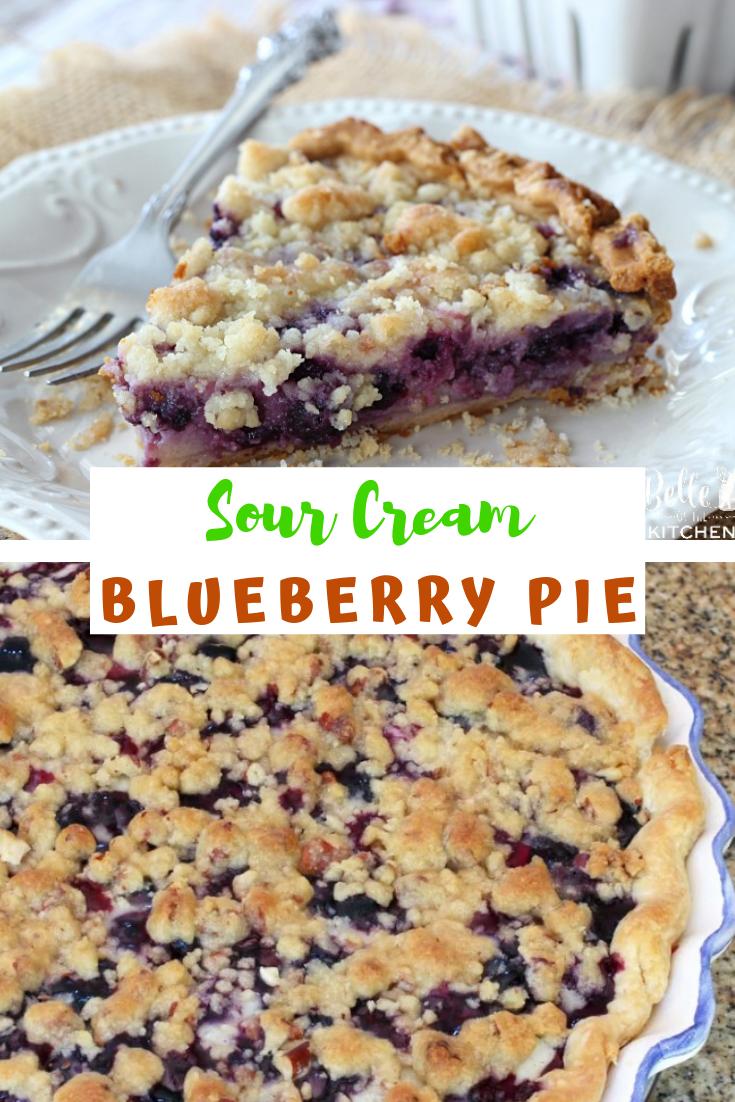 Sour Cream Blueberry Pie Desserts Pie Snacks Cake With Images Berries Recipes Cheesy Recipes Easy Easy Cream Pie