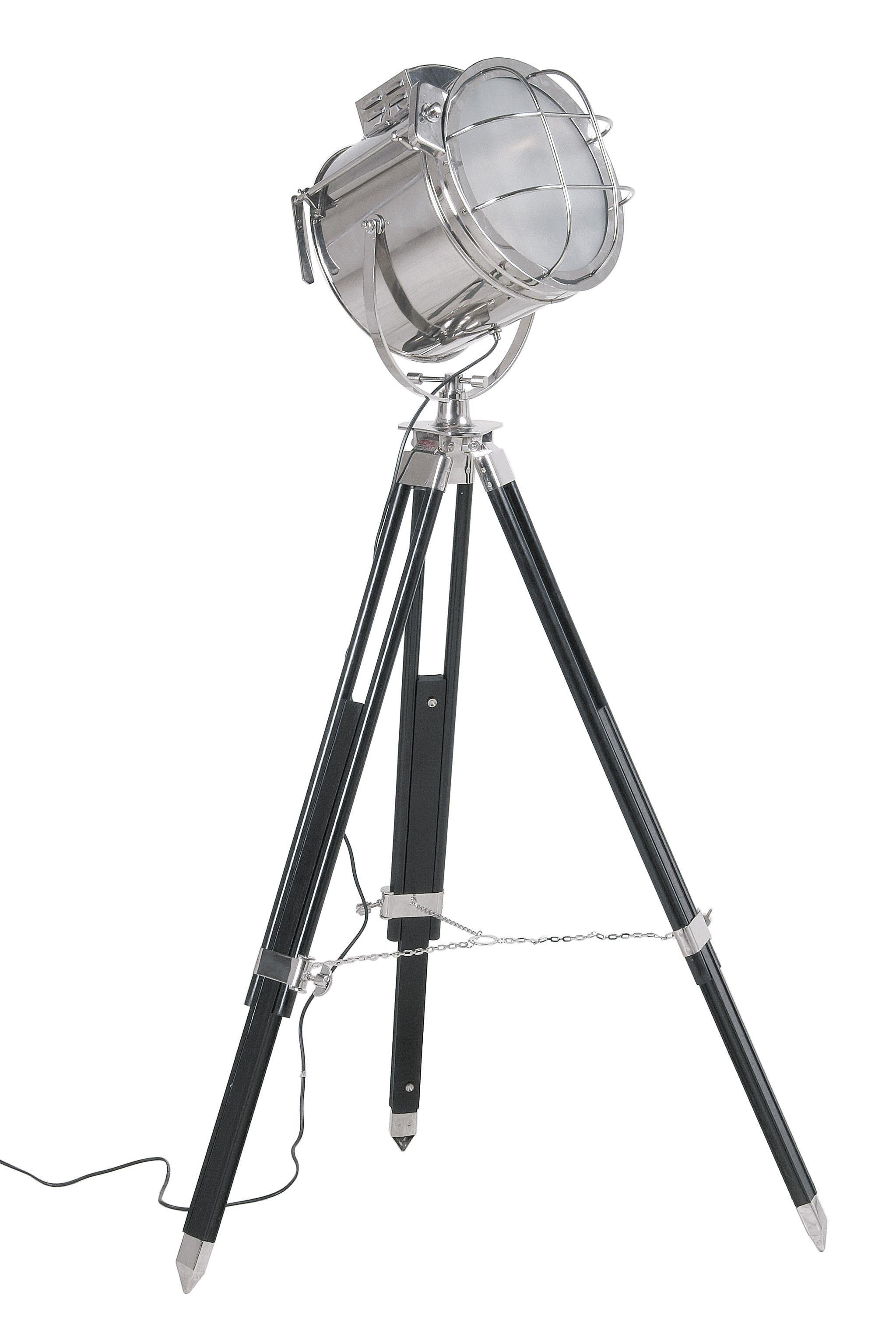 KARE Design Höhenverstellbare Stehleuchte SL Metropolis Spot Aus  Vernickeltem Stahl, Sheesham Holz Und Glas Im Stil Einer Filmset Beleuchtung,  Ausgelegt Für ...