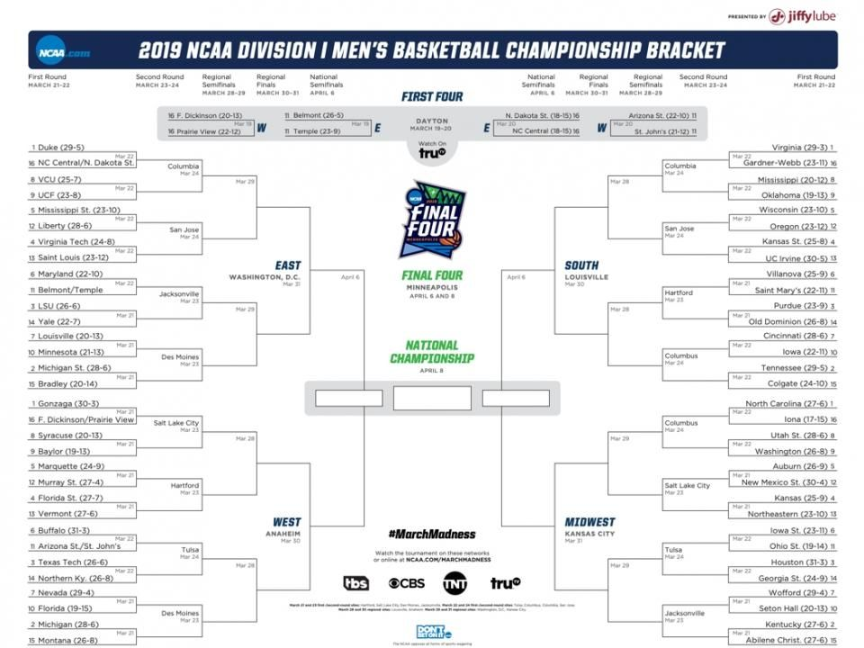 19+ Ncaa tournament game times and channels info