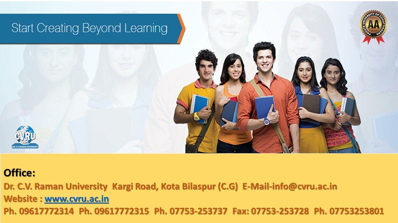 Recognized University in India www.cvru.ac.in Best