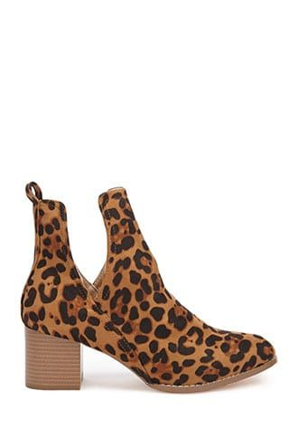 2ce4eb61cbca Faux Suede Leopard Print Booties in 2019 | Products | Shoes, Booty ...