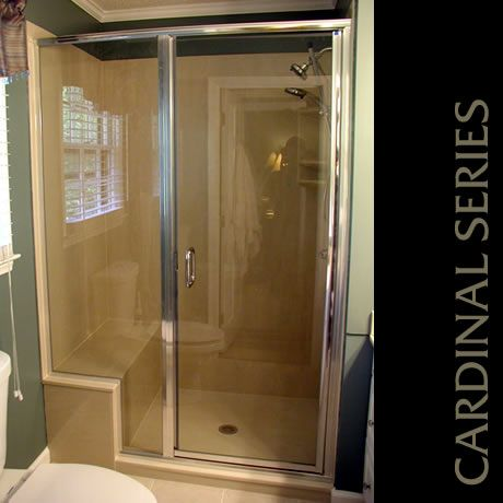 Cardinal Enclosure With Chrome Finish And Through The Glass C Pull Shower Doors Shower Enclosure Framed Shower Door