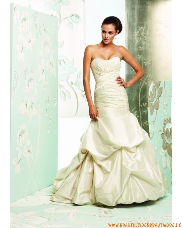 Prinzessein romantische Brautmode aus Taft Meerjungfrau ...