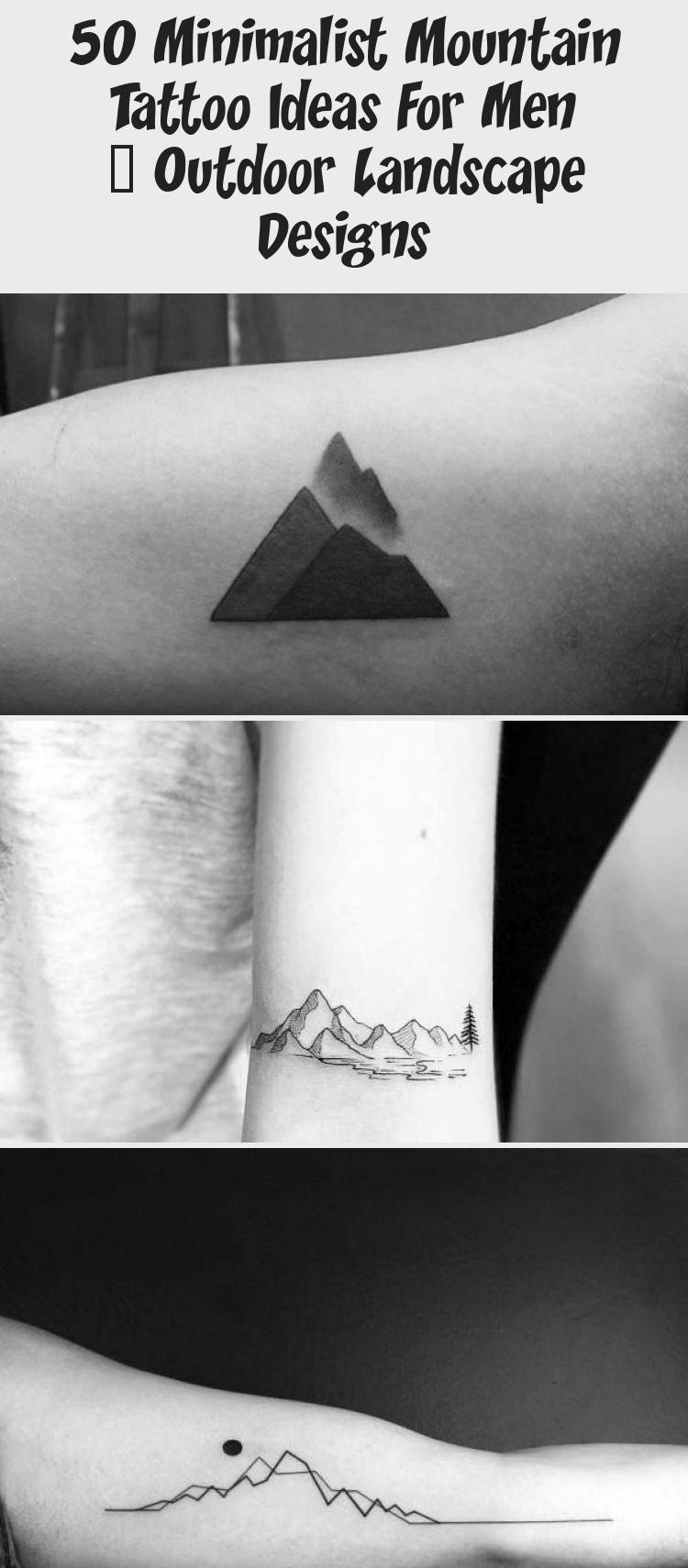 Photo of Amazing Mens Minimalist Mountain Tattoo Designs #minimalisttattooGeometric #mini…