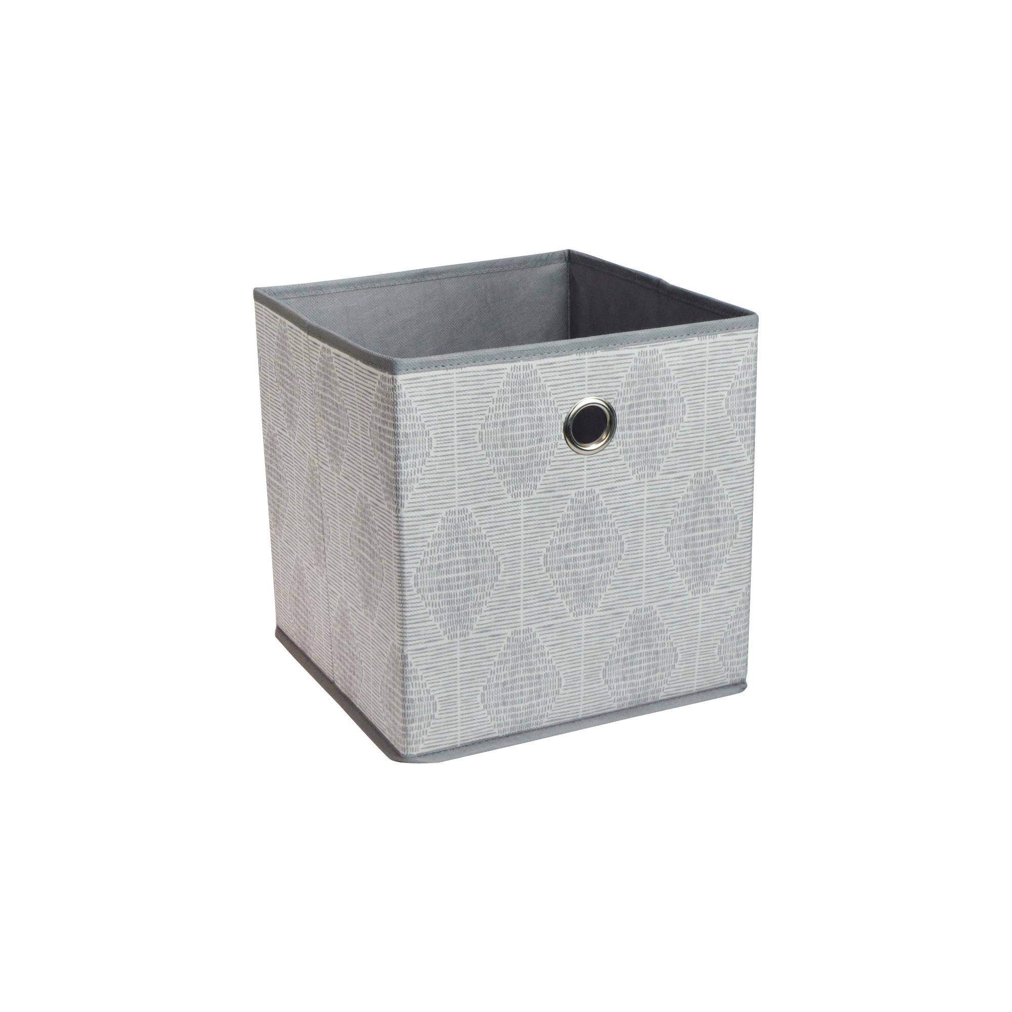 Fabric Cube Storage Bin Gray Pattern 11 Room Essentials Cube Storage Bins Cube Storage Fabric Storage Bins