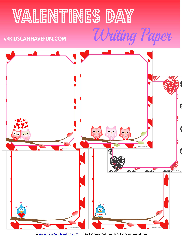 Free Valentine S Day Writing Paper
