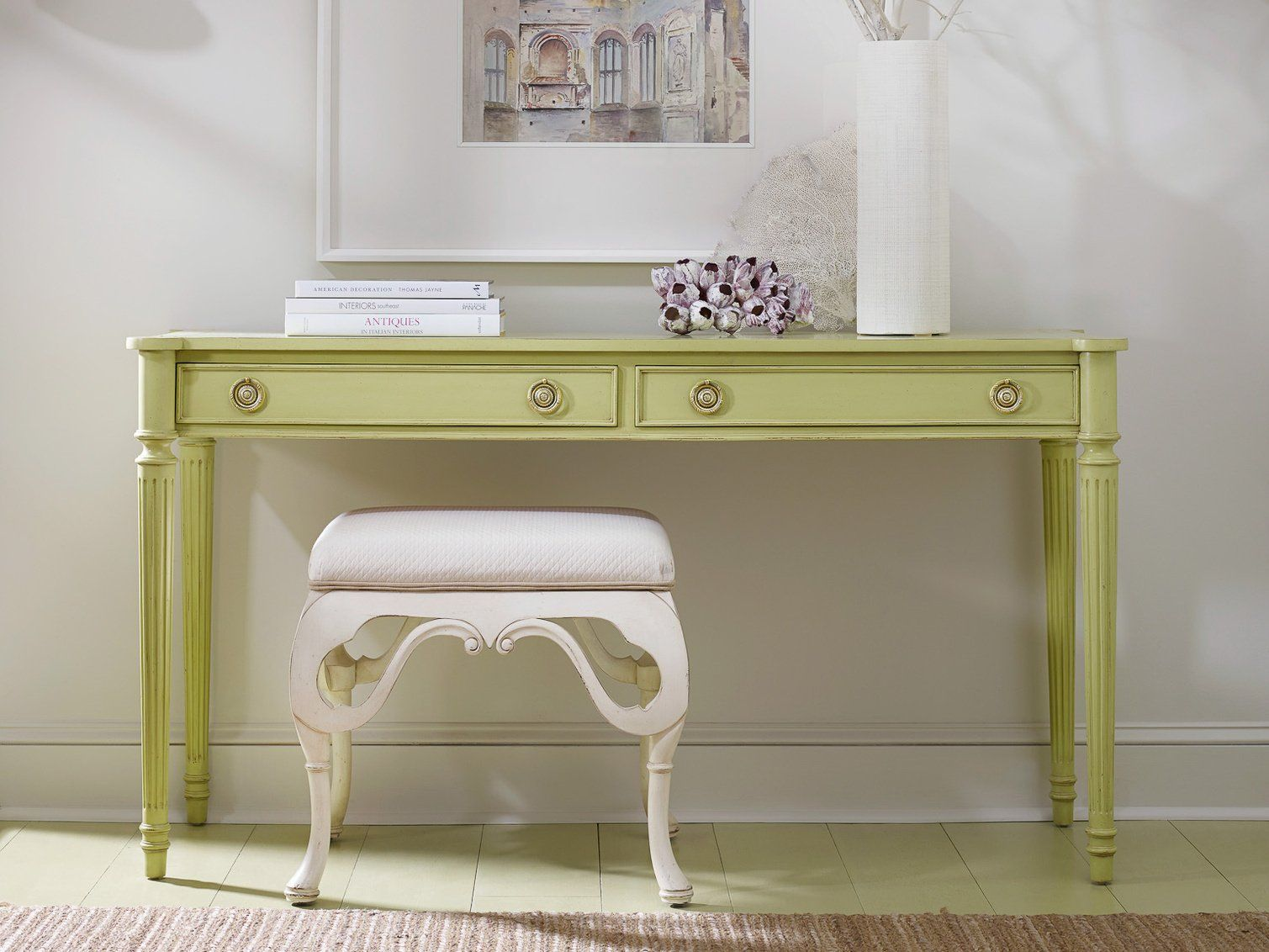 Chateau Console Green Home Decor Hand Crafted Furniture Somerset Bay