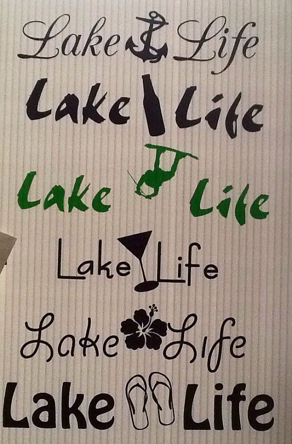 Lake Life Decals Or Iron On By NashSignsAndGraphix On Etsy - Houseboats vinyl logos