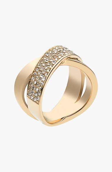 Michael Kors 'Brilliance' Crisscross Ring