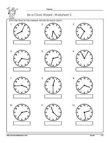 Telling-Time-Worksheet-5 | 3rd grade math worksheets, Time ...
