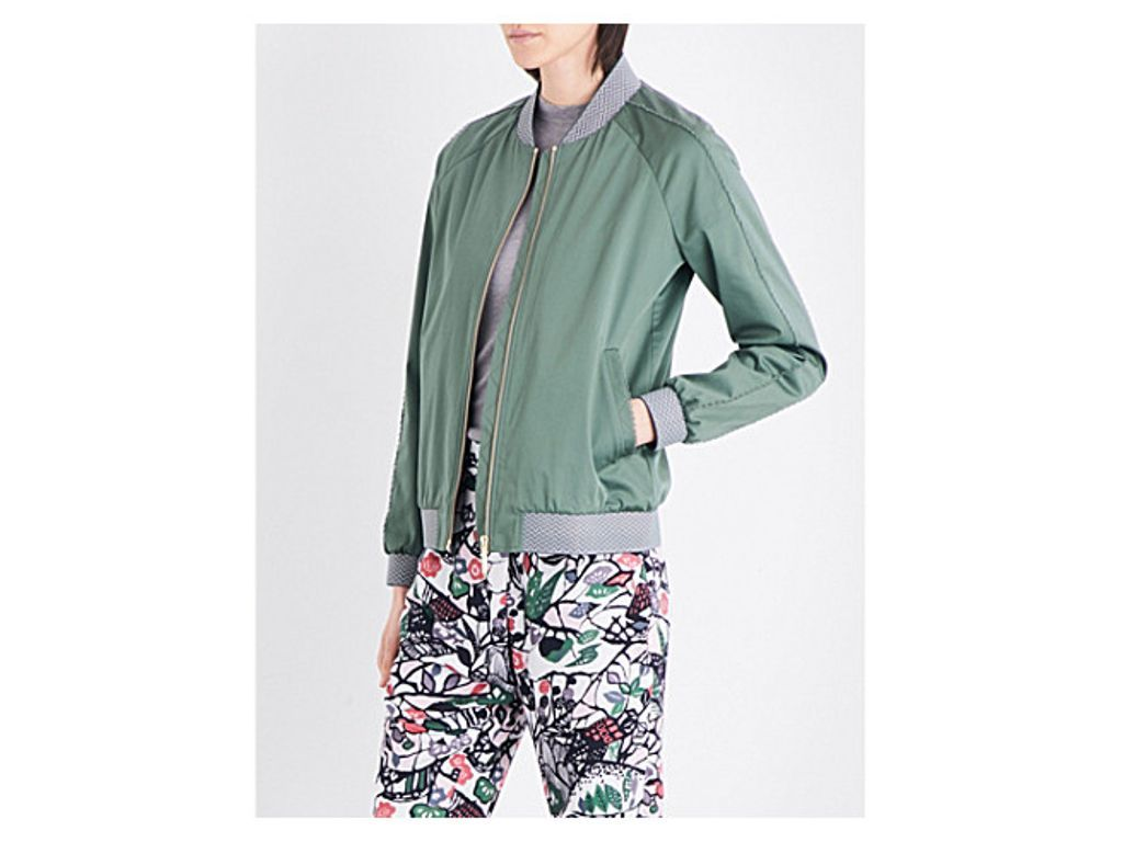 TED BAKER Colour By Numbers stretch-satin bomber jacket | Women\'s ...
