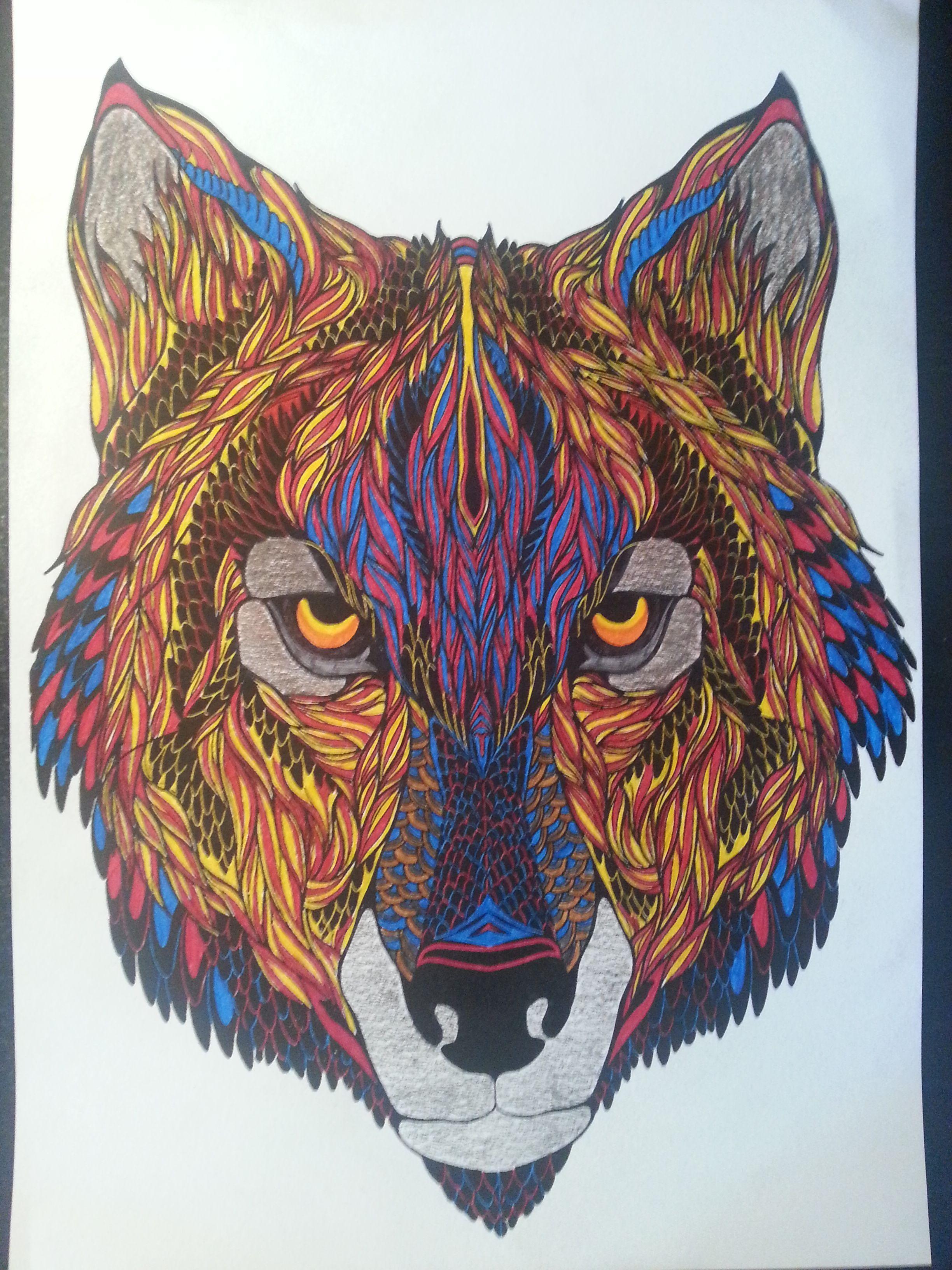 Loup Bestiaire. | Bestiaire, Art, Dessin