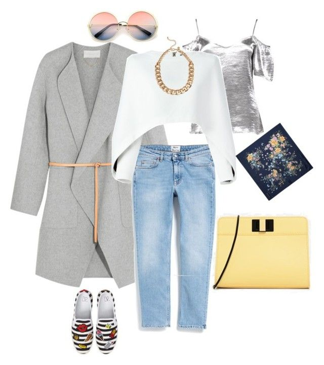 """Untitled #15"" by norah-mo on Polyvore featuring Boohoo, Vanessa Bruno, Acne Studios, Balmain, CHARLES & KEITH, ZeroUV, BP. and Aspinal of London"