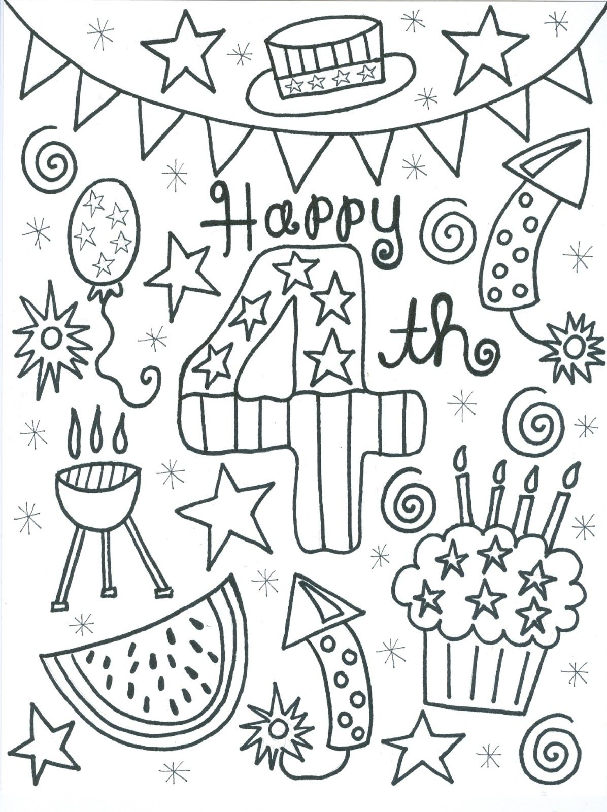 Just in time for a little Fourth of July coloring... Here