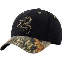 FLAME CAP HAT BLACK CAMO DEER BIG BUCK OUTDOORS HUNTING S
