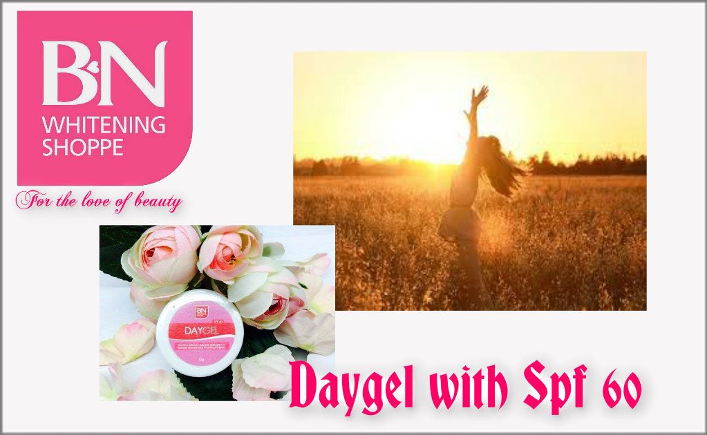 Over exposure to the sun causes sunburn, premature aging of the skin, wrinkling, and skin cancer.  Worry no more with BN Daygel ! A water-based sunscreen with SPF60 that glides smoothly on skin. It's light and goes on clear so you don't have to worry for that icky, sticky feeling.