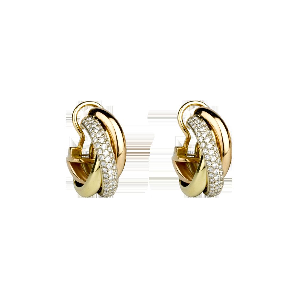 Cartier earrings, 3-gold & diamonds, £9,450 | jewellery ...
