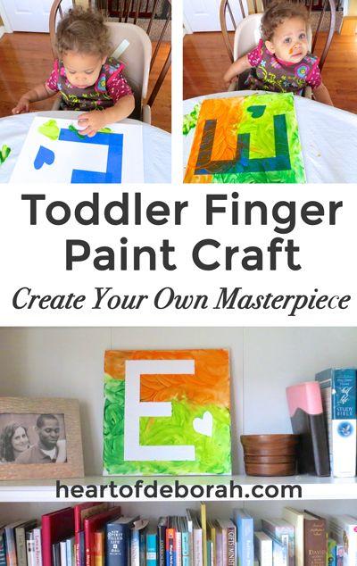 Brillant Toddler Finger Painting Craft Made Easy For Children
