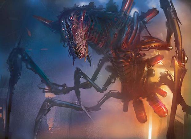 Phyrexian Artwork | Phyrexian Vatmother | Illustration by Stephan Martiniere