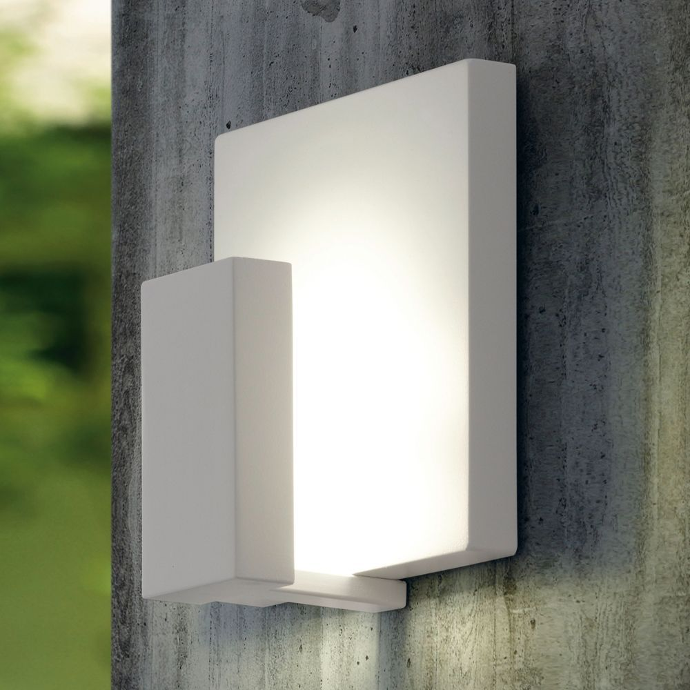 Eglo Pardela White LED Wall Light | Dusk Lights