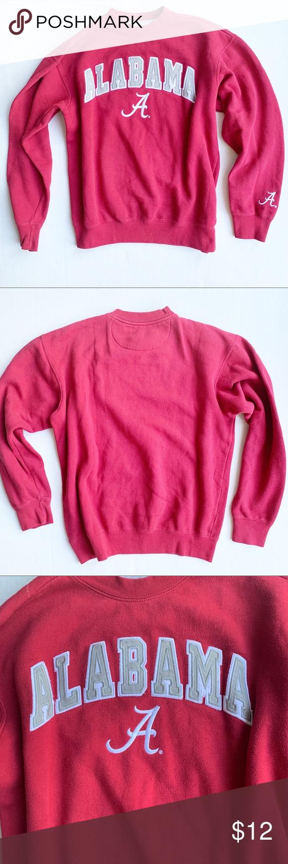 Alabama Crimson Tide Crewneck Sweatshirt Sweatshirts Crew Neck Sweatshirt Male Sweaters [ 1740 x 580 Pixel ]