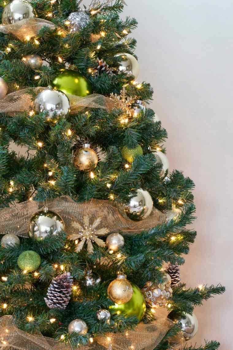 Arbol de navidad decoracion preciosa con lazos arboles - Lazos arbol navidad ...