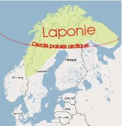 carte du monde laponie