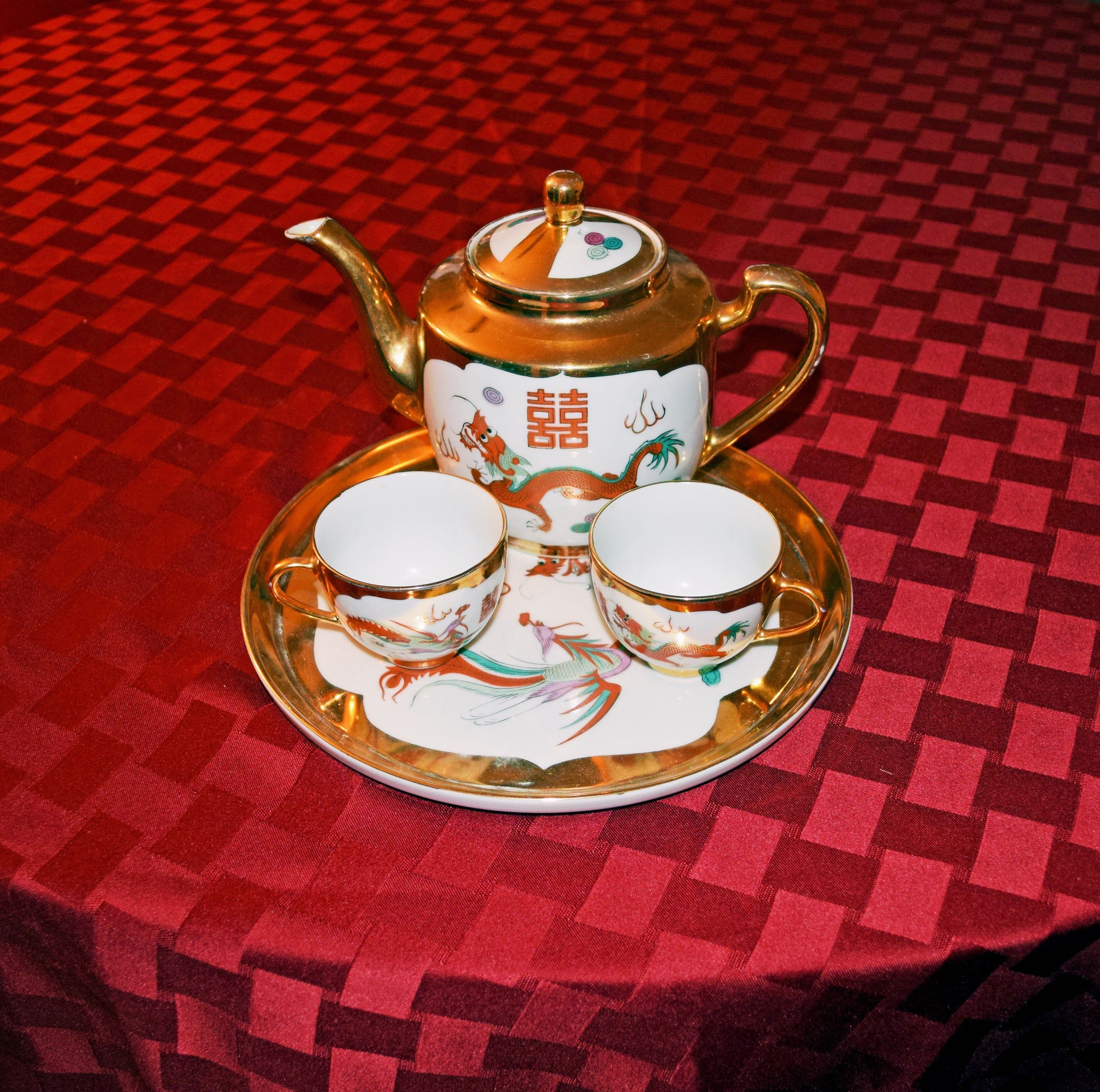 Red gold dragon tea set best liver protection for steroids