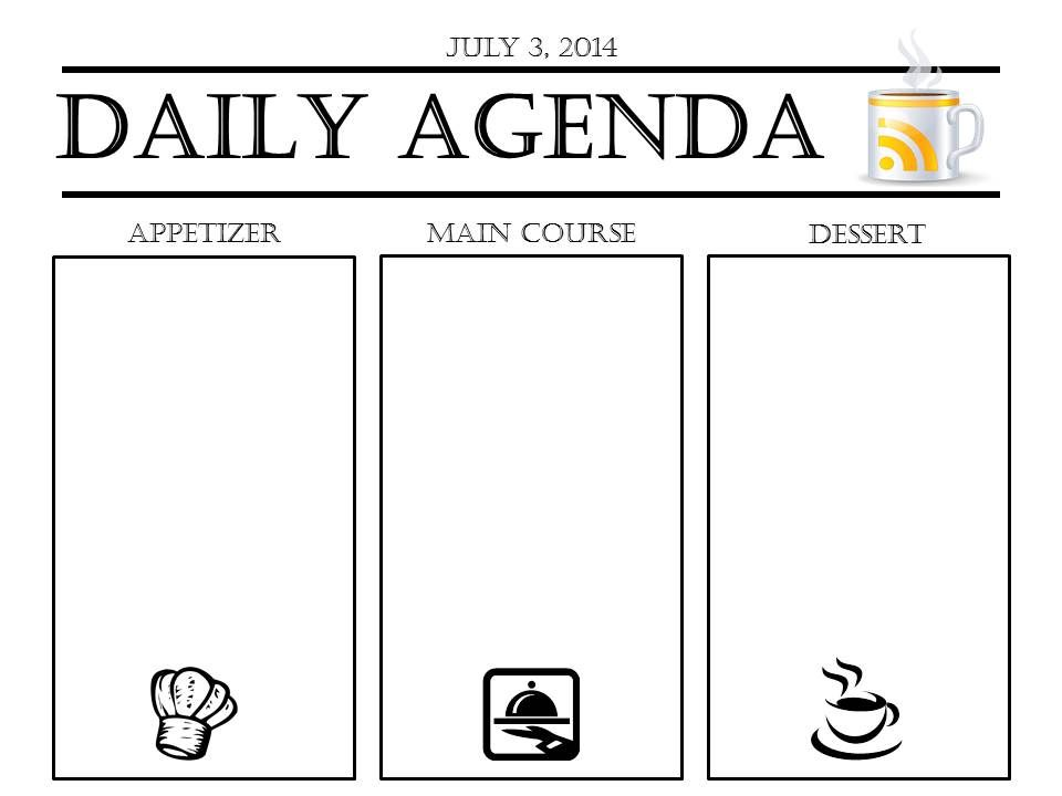 Daily Agenda Slide Template to display in class – Classroom Agenda Template